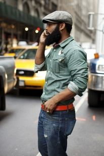 The Sartorialist -  nice red belt, like the shirt.