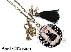 Collier Mademoiselle robe pompon Mademoiselle, Tassel Necklace, Handmade, Jewelry, Fashion, Pom Poms, Necklaces, Dress, Jewellery Making