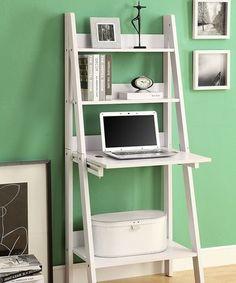 Love this White Ladder Leaning Desk on #zulily! #zulilyfinds