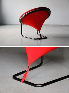 Lithuanian designer Gaudute Zilyte has created REDDOT a bright red modern and sculptural armchair. Living Room Furniture, Modern Furniture, Furniture Design, Rustic Furniture, Furniture Stores, Outdoor Furniture, Furniture Movers, Furniture Outlet, Handmade Furniture