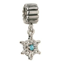 Pugster March Birthstone Aquamarine Crystal Snowflake Dangle Christmas Jewelry Beads Fits Pandora Charm Bracelet Pugster. $12.49. Weight (gram): 2.8. Size (mm): 9.77*4*24.51. Color: Aquamarine. Metal: crystal,silver
