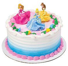 Cake Disney, Disney Princess Birthday Cakes, Disney Cake Toppers, Princess Cake Toppers, Aurora Cake, Diy Birthday Cake, 4th Birthday, Girl Cakes, Party Cakes