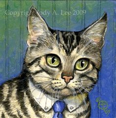 Tabby Cat Original Oil Painting