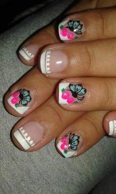 Nail Art Videos, Coffin Nails, My Nails, Nail Designs, Beauty, Home Organization Tips, Nail Desings, Pretty Nails, Work Nails