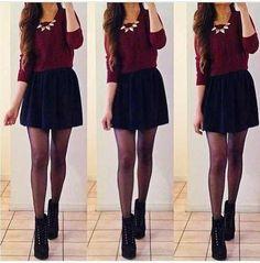 I love skater skirts ♡