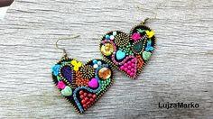 Gypsy heart náušnice by LujzaMarko - SAShE.sk - Handmade Náušnice