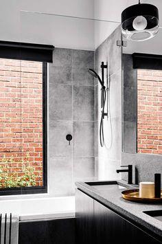 Modern Bathroom Decor Ideas Match With Your Home Design Contemporary Bathroom Designs, Modern Bathroom Decor, Grey Bathrooms, Beautiful Bathrooms, Bathroom Interior, White Bathroom, Bathroom Ideas, Bathroom Renos, Laundry In Bathroom