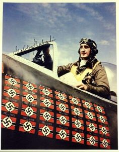 """""""Gabby"""" Gabreski - born January 28, 1919 in Oil City, Pennsylvania. Scored 28 kills and became America's leading ace in the European theater while serving with the 56th Fighter Group."""