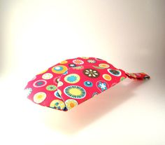 Pink Flower Clutch  Pink Flower Purse with by TrampLeeDesigns, $20.00
