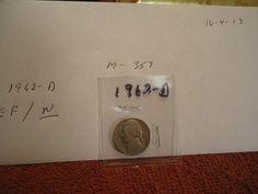 1962  D  //  EXTRA   FINE       // Jefferson Nickel  //  M-357