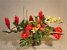 Anaheim CA Florist Custom Flower Arrangements Gallery: Avante Gardens Christmas Centerpieces, Christmas Decorations, Tropical Christmas, Love Natural, Flower Arrangements, Floral Design, Xmas, Flowers, Plants