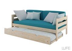 una cama nido completa en madera por menos de 100 euros en muebles lufe, el Ikea vasco #bed #children #camanido