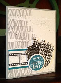 Trinity Designs: Masculine Mash-Up Card Handmade Birthday Cards, Happy Birthday Cards, Paper Art, Paper Crafts, Pretty Cards, Masculine Cards, Homemade Cards, Stampin Up Cards, Cardmaking