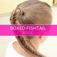 Very Easy Hairstyles For Kids is part of Cute And Easy Kids Hairstyles Ideas For Little Girls - Boxed Fishtail Braid Video tutorial Box Braids Hairstyles, Ponytail Hairstyles Tutorial, Hairstyles Videos, Braided Hairstyles Tutorials, Curly Hair Styles, Natural Hair Styles, Hair Upstyles, Long Box Braids, Side Braids For Long Hair