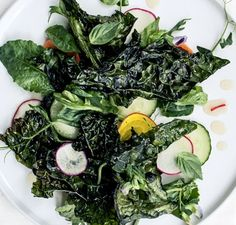 Crispy Kale Salad with Lime Dressing Recipe