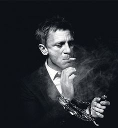 only one can pull this... Daniel Craig smoking portrait in black and white. / By Murray / January 16, 2012