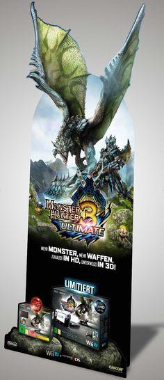 POS Standee . Monster Hunter 3 Ultimate . Wii U, Nintendo 3DS