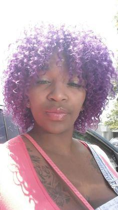 Im loving my purple hair.