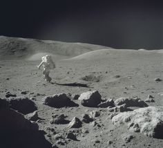 Apollo 17 astronaut Jack Schmidt on the Moon, December 12, 1972.