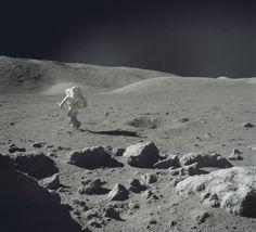 Apollo 17 astronaut Jack Schmidt on the Moon, December 12, 1972.