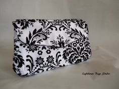 READY TO SHIP !! Bridesmaid  Wedding Clutch  Black Damask on by Lighthousebags, $100.00