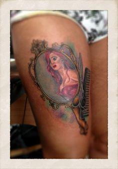 Fancy Hand Mirror Tattoo Mirror, mirror, on my thigh
