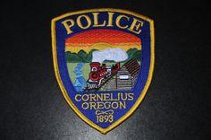 Cornelius Police Patch, Washington County, Oregon (Current Issue)