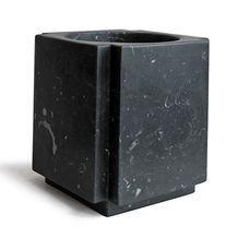 """""""Kros"""" Low Black Marble Vase by Michael Verheyden"""