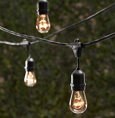 Another style of outdoor string lights. vintage style string lights from restoration hardware Vintage String Lights, Patio String Lights, Globe String Lights, Vintage Lighting, Light String, String Lighting, Hanging Lights, Patio Lanterns, Bulb Lights
