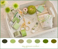 green colorboard, by Märchenwelt, via Flickr.