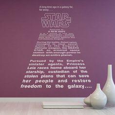 Vinilos Decorativos: Texto Intro Star Wars