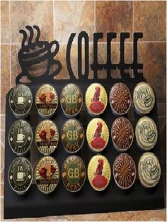 Keurig K-cup Coffee Holder - 18 Pod Coffee Cup Counter-top Design