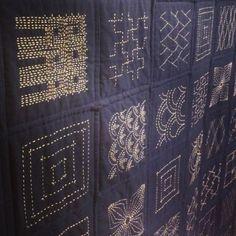 Japanese Sashiko embroidery TMCtoronto