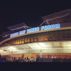 The Tampa Bay Times Forum...