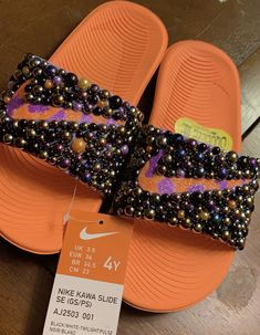 Customized by Sprinkle My Feet Twilight, Nike Flip Flops, Sweet 16 Gifts, Nike Shoes Air Force, Bling Shoes, Embellished Sandals, Designer Shoes, Personalized Gifts, Kicks