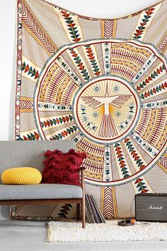 Could be cool as a curtain? 4040 Locust Phoenix Medallion Tapestry - Urban Outfitters