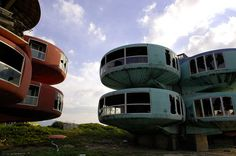 Sanzhi UFO Houses - Taiwan by photographer Liao Yusheng