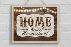 Hey, I found this really awesome Etsy listing at https://www.etsy.com/listing/531878991/home-sweet-homeschool-sign-print-rustic