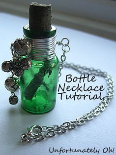 Turn a miniature bottle into a necklace with this simple wire-wrapping technique.