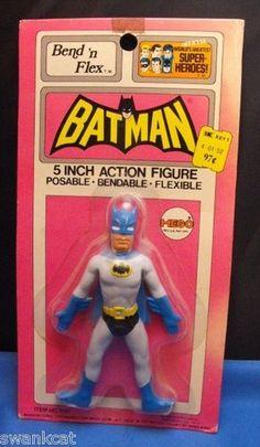 WGSH 1972 Mego Batman Bend N Flex Action FIgure sealed on Kresge Card | eBay
