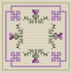 Image result for thistle cross stitch pattern free