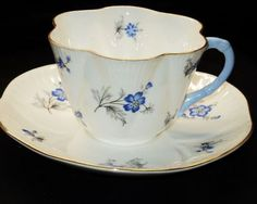 Shelley Dainty Charm Blue teacup and saucer