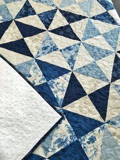 Throw Quilt Minky HANDMADE Patchwork Cold Spell by QuiltPetaler