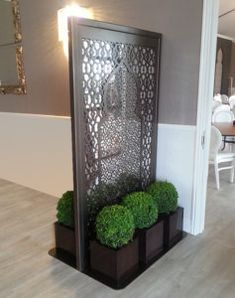 freestanding laser cut metal screens – laser cut screens for architectural and home interiors Living Room Partition Design, Room Partition Designs, Home Interior, Interior Decorating, Decorating Blogs, Metal Room Divider, Room Dividers, Decorative Screen Panels, Laser Cut Screens