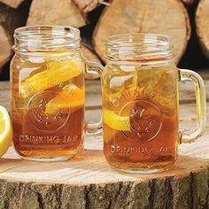 Mason jar mugs.