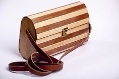 Handcrafted Designer Wooden Bags with adjustable genuine leather strap , very light in weght , water resistant and durable . Wooden Bag, Cape Town, Water, Bags, Design, Decor, Gripe Water, Handbags, Decoration