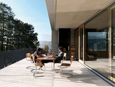 The Germann House by marte.marte Architekten in Feldkirch, Austria is a contemporary, concrete home with stunning mountain views. Feldkirch, New York Projects, German Houses, Smooth Concrete, Small Entrance, Small Barns, Built In Furniture, Tumblr Rooms, Pine Floors