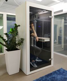 Office Pods, Open Space Office, Sound Absorption, Office Background, Ral Colours, White Laminate, Safety Glass, Modular Design, Sound Proofing