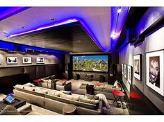 Digin' that electric feel! #mancaves #theater #movie