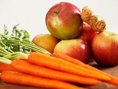 Apple Spice Juice Recipe from www.juicingrecipesbook.com  Fuji Apples – 2 Large Carrots – 6 Medium, peeled Ginger – 1 small thumb Cinnamon – 1/4 tsp